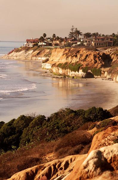 San Diego Beaches, View on Carlsbad Cliffs