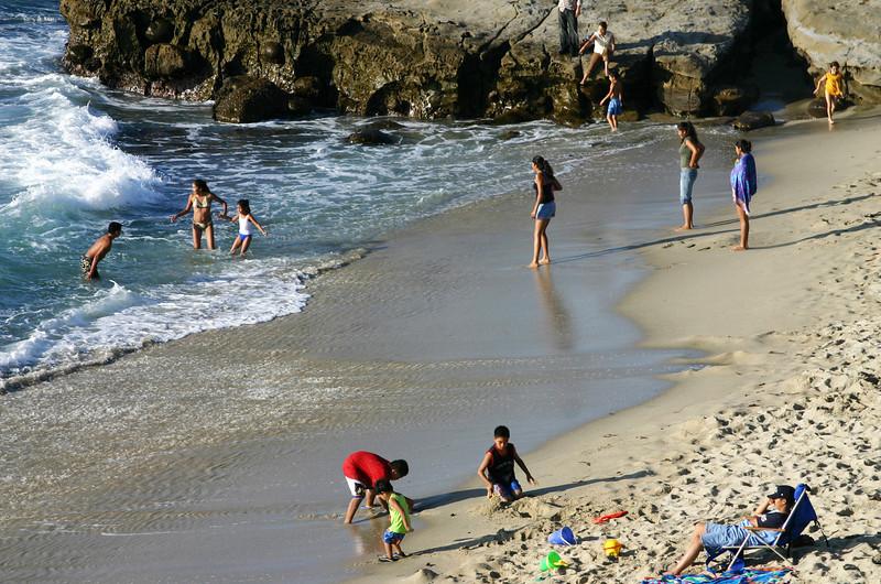 San Diego Beaches, Beach Fun at Scripps Cove La Jolla