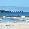 San Diego Beaches, Surfer at Ocean Beach Pier