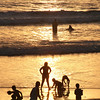 San Diego Beaches, Bathers at Sunset