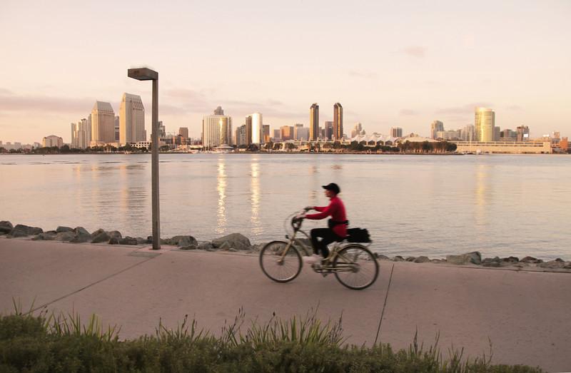 Biking at Sunset, Coronado