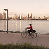 Biking at Sunset, Coronado