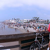 Bikers on Imperial Beach Pier