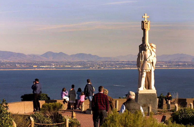 Cabrillo National Monument, Vista onto Mountains at Sunset