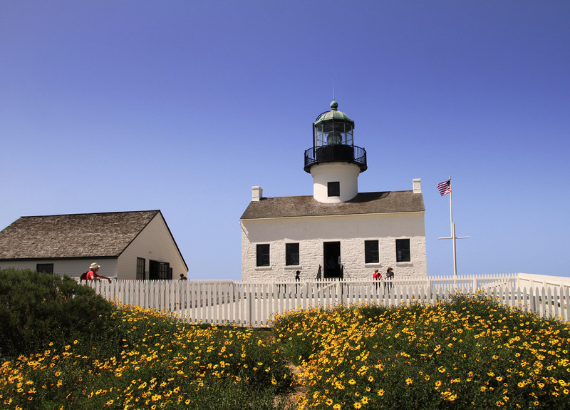 Cabrillo National Monument, Old Pt  Loma Lighthouse in Spring