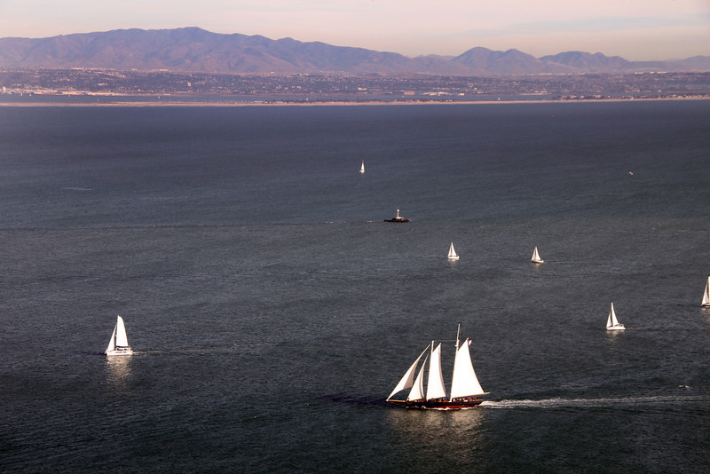 Cabrillo National Monument, View onto Sailboats from Monument