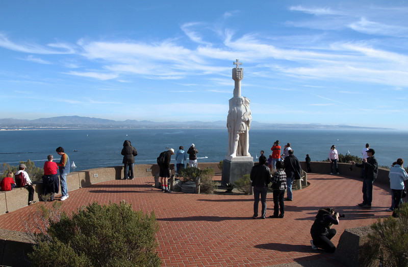 Cabrillo National Monument, Winter View with Visitors
