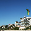 Carlsbad California Beach with Kite Surfer