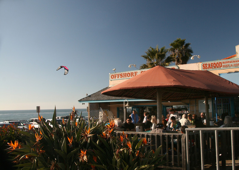 Dining Al Fresco in Carlsbad with View on Ocean