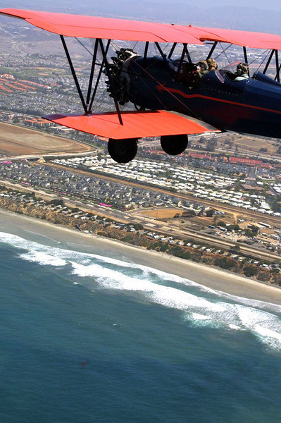 View on Carlsbad from Bi-Plane