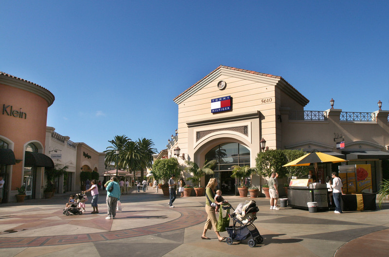 Shoppers at Carlsbad Premium Outlets