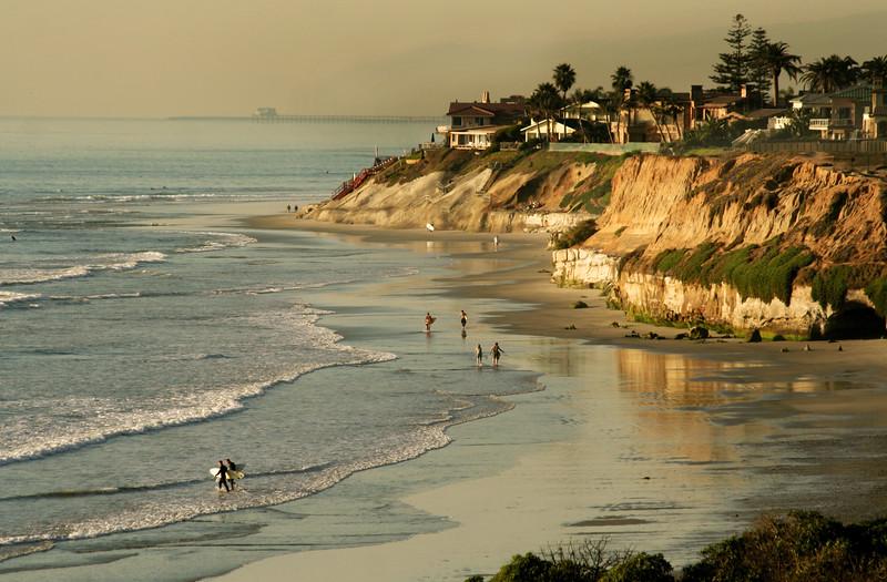 San Diego Beaches, View on Carlsbad Beach
