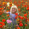 Carlsbad Flower Fields, Child in Ranunculus Field
