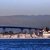 Coronado, Hotel del Coronado & Coronado Bridge, View from Ocean