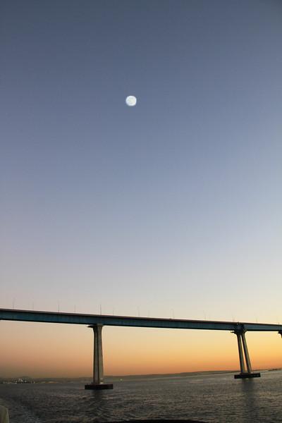 Coronado, Bridge Vertical with Full Moon