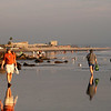 Coronado, Walkers at Sunset along Beach
