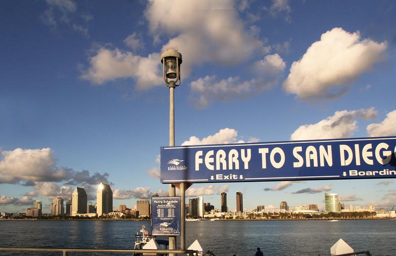 Coronado, Ferry Landing with View on San Diego Skyline