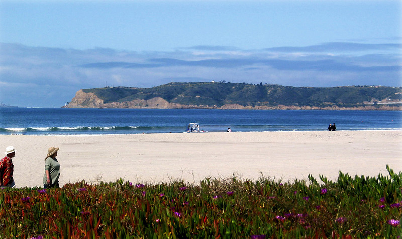 Coronado, Walkers with View on Pt  Loma