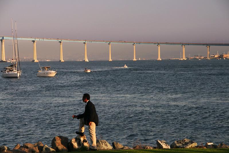 Coronado, Coronado Bridge from Embarcadero South