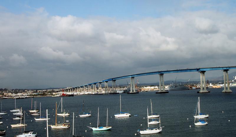 Coronado, Coronado Bridge with Sailboats
