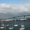 Coronado, Coronado Bridge with Sailboats