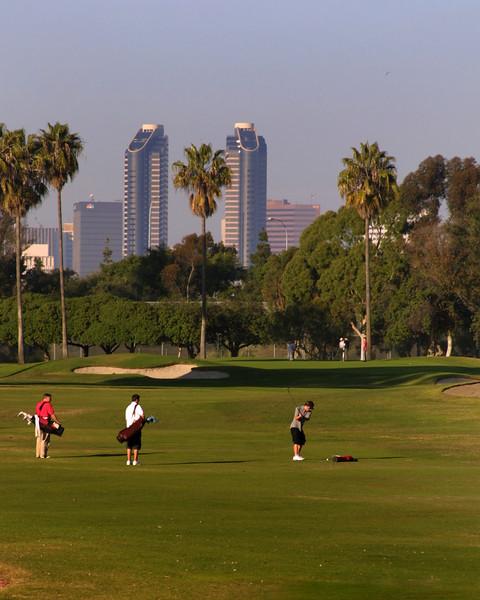 Coronado, Municipal Golf Course with San Diego Skyline