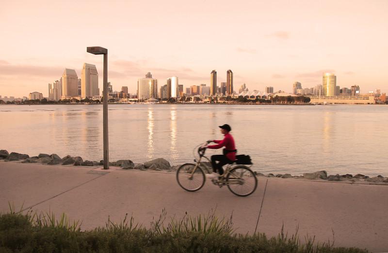 Coronado, Biking at Sunset