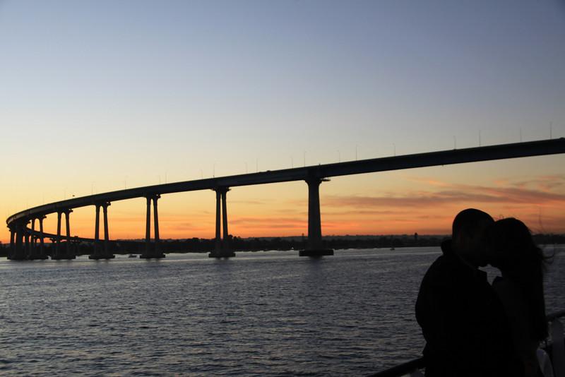 Coronado, View on Coronado Bridge with Couple