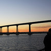 Coronado, View on Coronado Bridge with Couple