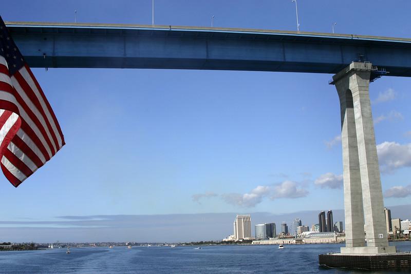 Coronado, San Diego Skyline through Bridge