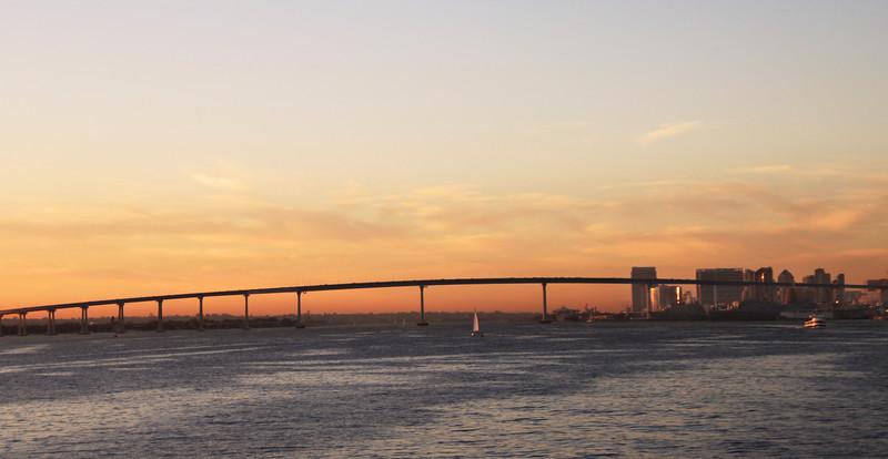 Coronado, Expanse of Bay Bridge with Skyline