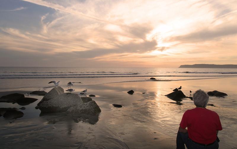 Coronado, Sunset View from Beach Rocks