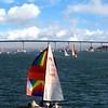 Coronado, Colorful Sailboats & Coronado Bridge