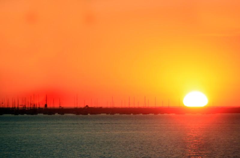 Coronado, Sunset over Marina
