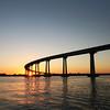 Coronado, Sunset View of Coronado Bridge