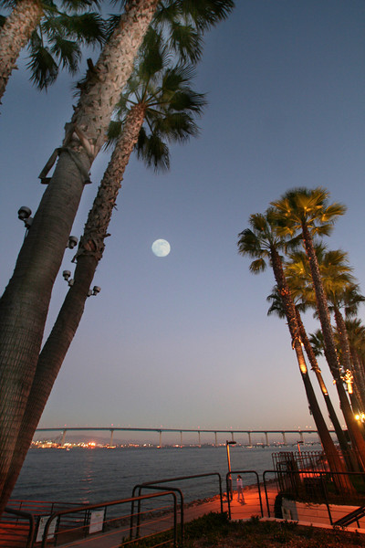 Coronado, Coronado Bridge with Full Moon