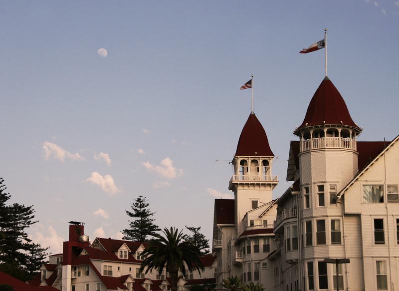 Coronado, Hotel del Coronado Turrets at Dusk