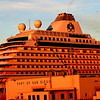 Crystal Cruise Lines in Glow of Sunset