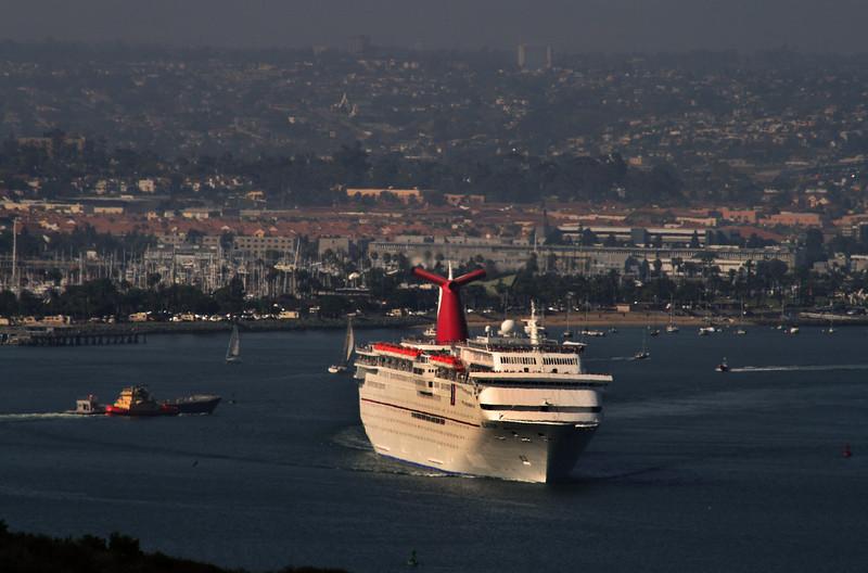 Carnival Cruise Lines Elation Off Pt  Loma Coastline