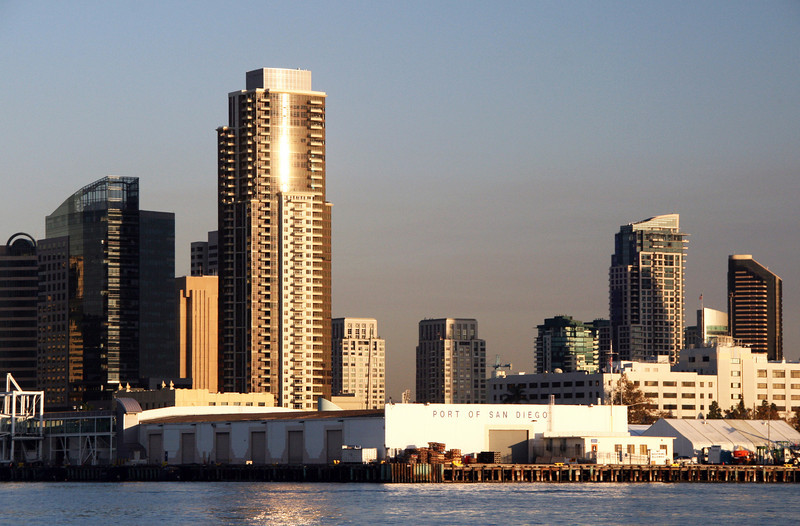 Cruise Terminal and San Diego Skyline
