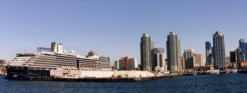 Holland America Oosterdam in Port of San Diego