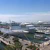 Three Cruise Ships Docked at San Diego's  Embarcadero