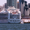 Diamond Princess Docked in Port of San Diego