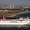 Carnival Cruise Lines Elation Leaving San Diego