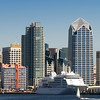 Cruise Ship, San Diego Skyline
