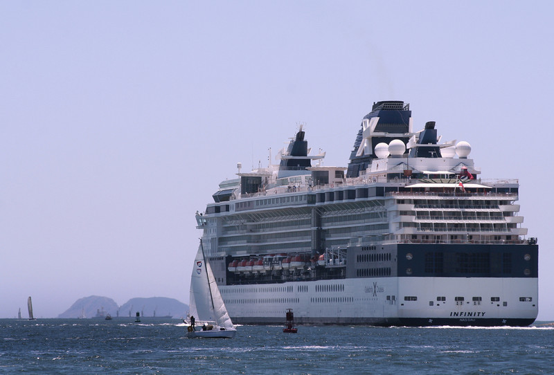 Celebrity Cruise Lines Infinity Leaving Port of San Diego