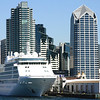 Silversea Cruises Silver Shadow in Port of San Diego
