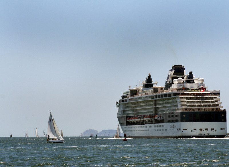 Celebrity Cruise Ship Infinity Leaving San Diego Bay