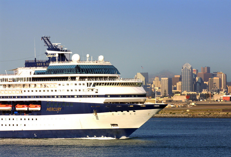 Celebrity Cruises Leaving San Diego Bay
