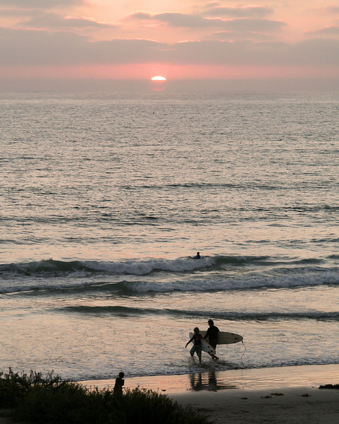 Del Mar Beach Sunset